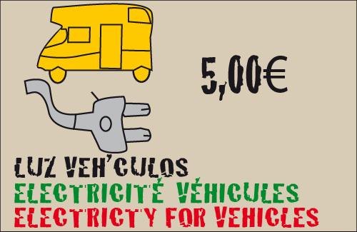 tarifas toma de luz para vehiculos en parcela