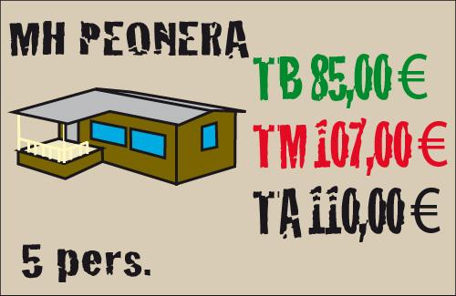 tarifas mobil home peonera 5 plazas