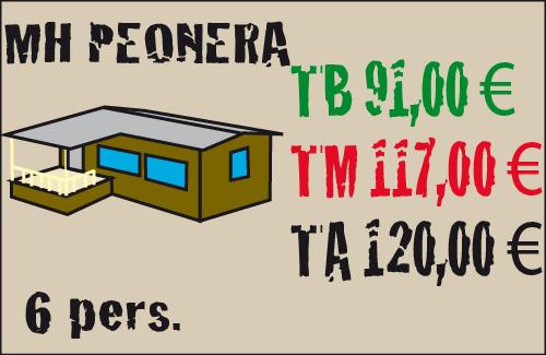 tarifas mobil home peonera 6 plazas