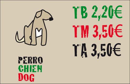 tarifas para los perros