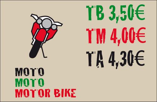 tarifas para las motos