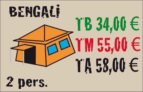 tarifas tienda bengali 2 plazas