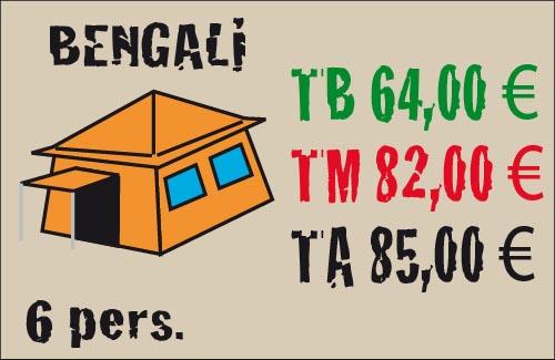 tarifas tienda bengali 6 plazas