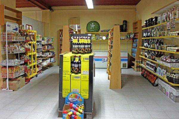 estanterías enrada supermercado